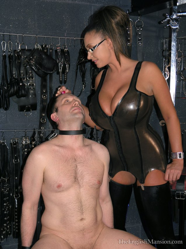 Domina milking his slave while face sitting him 7